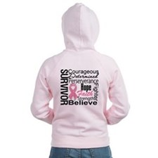 Breast Cancer Collage Zip Hoody