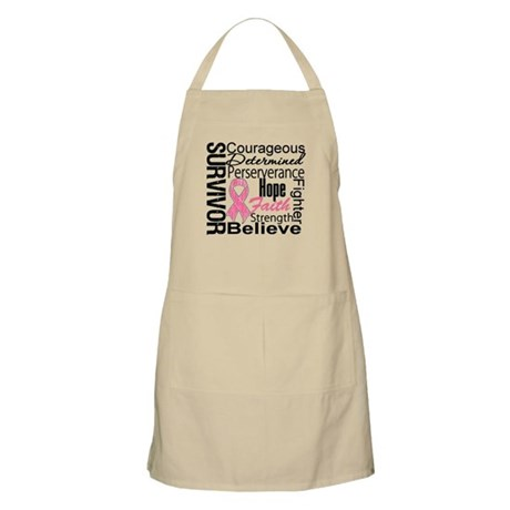 Breast Cancer Collage BBQ Apron