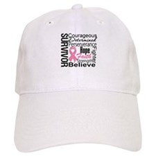 Breast Cancer Collage Baseball Cap