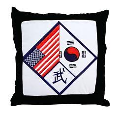 Dual Flag & Moo Throw Pillow