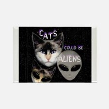 Cats Could Be Aliens Rectangle Magnet
