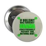 """If Bullshit was Currency 2.25"""" Button (10 pac"""