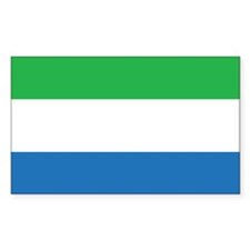 Sierra Leone Flag Rectangle Decal