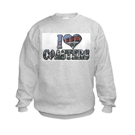 I heart coasters Kids Sweatshirt