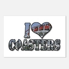 I heart coasters Postcards (Package of 8)