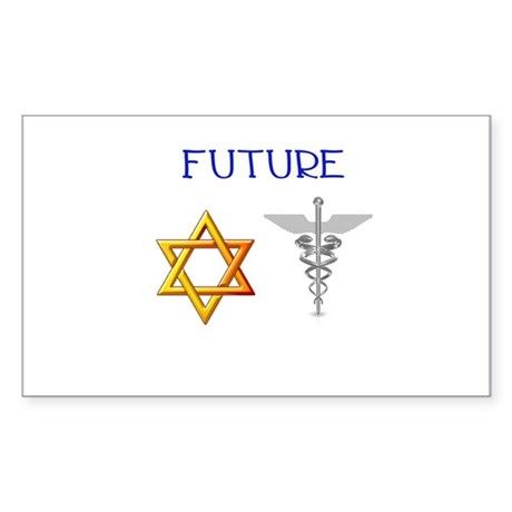 Future Jewish Doctor Rectangle Sticker 50 pk)