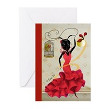 Passion and Flamenco (2) Greeting Cards (Pk of 10)
