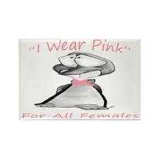 Breast Cancer Rectangle Magnet