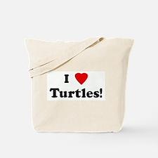 I Love Turtles! Tote Bag