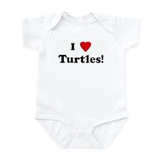 I Love Turtles! Infant Bodysuit