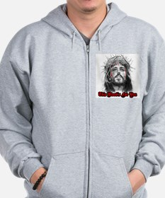 jesus this blood's for you Zip Hoodie