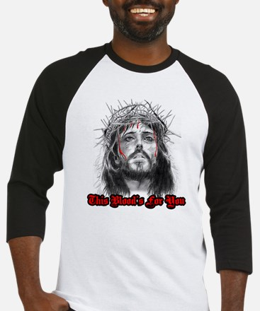 jesus this blood's for you Baseball Jersey