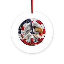 Peace Eagle Ornament (Round)