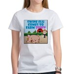 Swine Flu Comes To FarmTown Women's T-Shirt