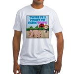 Swine Flu Comes To FarmTown Fitted T-Shirt