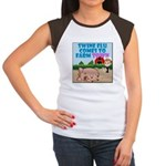 Swine Flu Comes To FarmTown Women's Cap Sleeve T-S