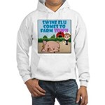 Swine Flu Comes To FarmTown Hooded Sweatshirt
