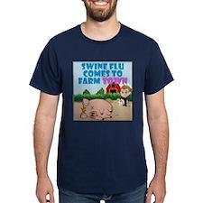 Swine Flu Comes To FarmTown T-Shirt