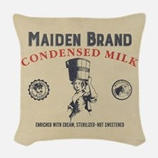 WW Maiden Brand Milk Woven Throw Pillow
