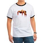 Zombie Ringer T-shirt Cool Gross Zombie T-shirt