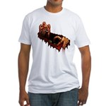 Zombie Fitted T-Shirt Scary Halloween T-shirt