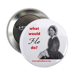"""What Would FLO Do? 2.25"""" Button (100 pack)"""