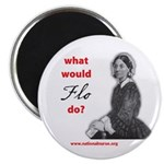 """What Would FLO Do? 2.25"""" Magnet (10 pack)"""