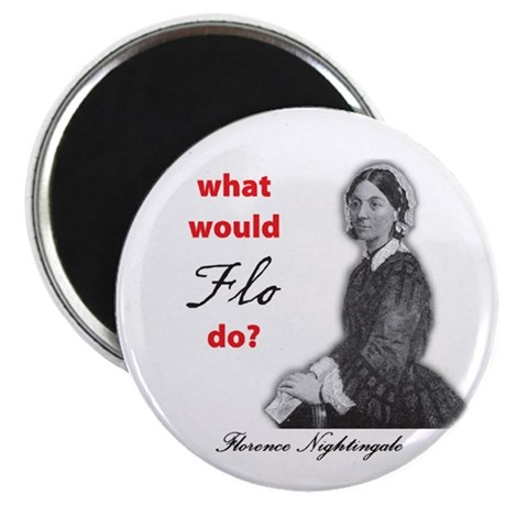 """What Would FLO Do? 2.25"""" Magnet (100 pack)"""