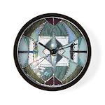 Sanskrit Stained Glass Mandala Wall Clock
