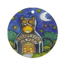Broomstick Airport Ornament (Round)