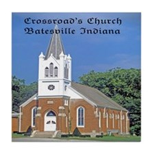 Crossroad's Lutheran Church Tile Coaster