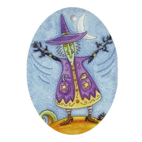 Witch Oval Ornament