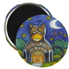 """Broomstick Airport 2.25"""" Magnets (10 pack)"""