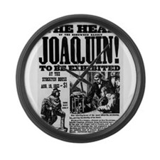 Joaquin Murieta Large Wall Clock