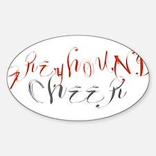 GREYHOUND CHEER (3) Oval Decal
