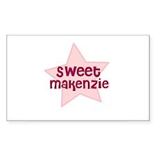 Sweet Makenzie Rectangle Decal