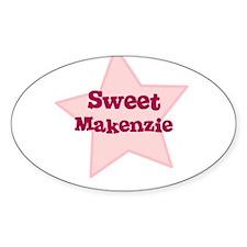 Sweet Makenzie Oval Decal