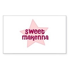 Sweet Makenna Rectangle Decal