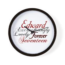Edward Forever Seventeen Wall Clock
