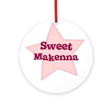 Sweet Makenna Ornament (Round)