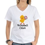 Volleyball Chick Women's V-Neck T-Shirt