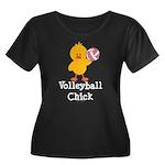 Volleyball Chick Women's Plus Size Scoop Neck Dark