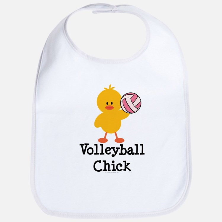 Volleyball Chick Bib