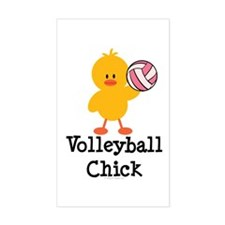 Volleyball Chick Rectangle Decal
