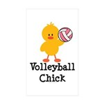 Volleyball Chick Rectangle Sticker 10 pk)