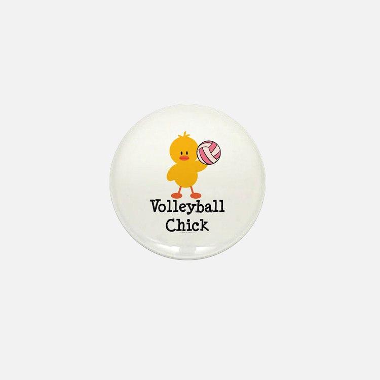 Volleyball Chick Mini Button