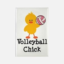 Volleyball Chick Rectangle Magnet