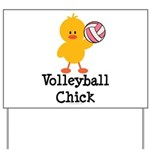 Volleyball Chick Yard Sign