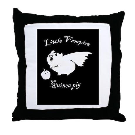 Vampire Guinea pig Throw Pillow
