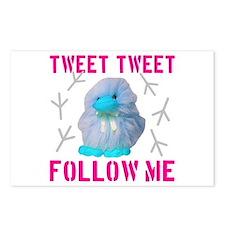 Tweet Tweet Follow Me Postcards (Package of 8)